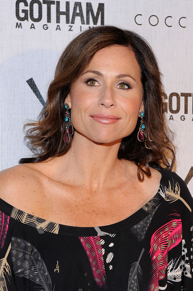 Minnie Driver Gemstone Chandelier Earrings