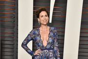 Minnie Driver Embroidered Dress