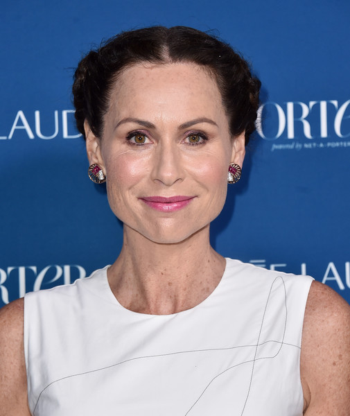 Minnie Driver Braided Updo [hair,face,hairstyle,eyebrow,skin,chin,beauty,shoulder,lip,premiere,incredible women gala 2018 - arrivals,porter,minnie driver,ebell,los angeles,california,incredible women gala]