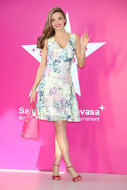 Miranda was girly sweet in a pastel floral dress at the Samantha Thavasa Ladies Tournament Special Event.