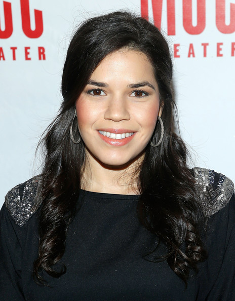 More Pics of America Ferrera Half Up Half Down (2 of 6) - Half Up Half Down Lookbook - StyleBistro