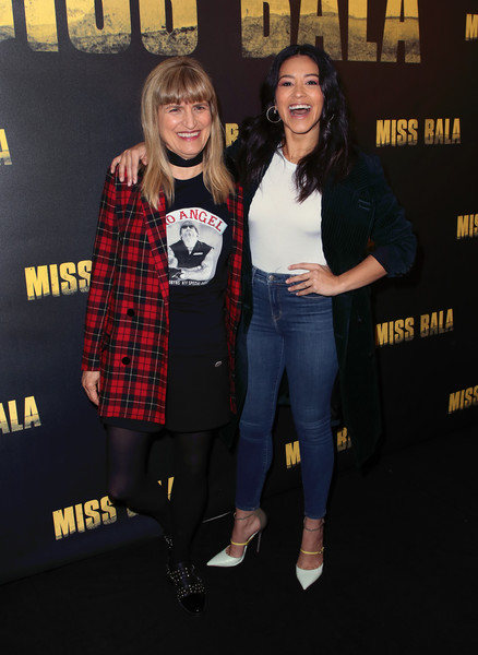More Pics of Gina Rodriguez Long Wavy Cut (3 of 19) - Gina Rodriguez Lookbook - StyleBistro [miss bala,premiere,plaid,event,fashion,design,outerwear,performance,footwear,tartan,textile,catherine hardwicke,gina rodriguez,photo call,west hollywood,california,the london hotel,l,photo call]