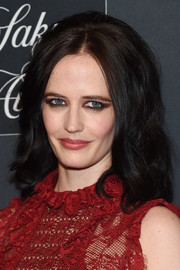 Eva Green looked bold with her heavy eye makeup.