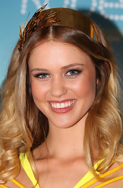 Flirty false lashes played-up Scherri's baby blues at a Miss Universe Australia photocall in Melbourne.