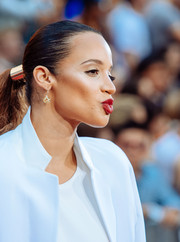 Dascha Polanco pulled her hair back into a tight ponytail for the New York premiere of 'Mission: Impossible – Rogue Nation.'