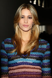 Elena Santarelli rocked a feathered straight cut at the Missoni Fall 2011 fashion show.