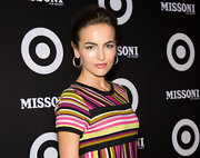 At the Missoni for Target collection launch, Camilla Belle wore a soft, pearlescent pink lipstick. To try her lip look at home, we recommend Maybelline Colorsensational High Shine lipstick in Pink Freeze.