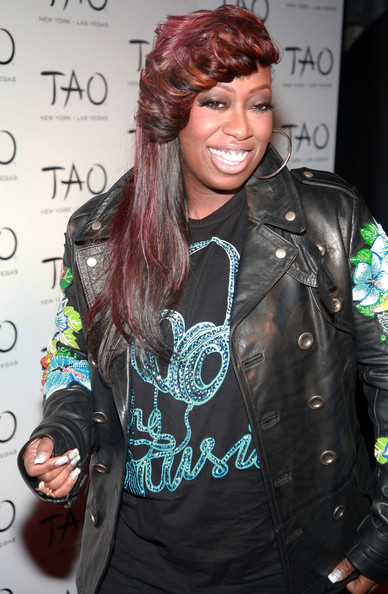 Missy Elliott Long Straight Cut with Bangs