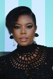 Gabrielle Union swiped on some winged eyeliner for an exotic beauty look.