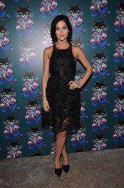 Leigh Lezark was classic and ladylike in a sleeveless lace LBD during the 'Spark & Light' screening.