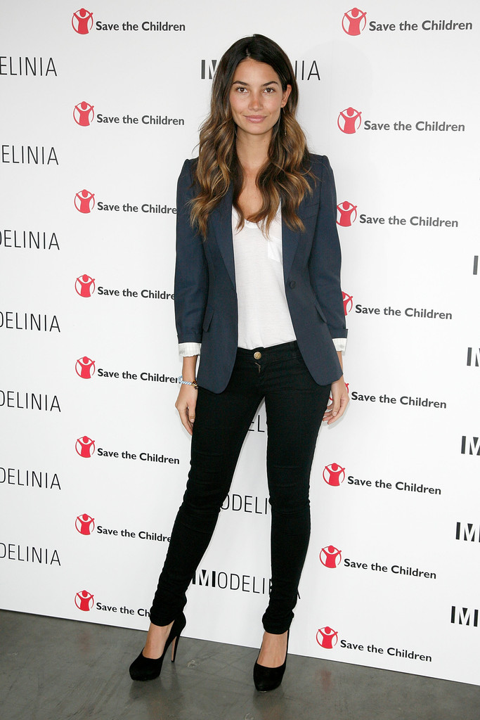 Lily Aldridge attends the Modelinia Beautiful Friends Forever Bracelet launch at the Dream Hotel on September 7, 2011 in New York City.