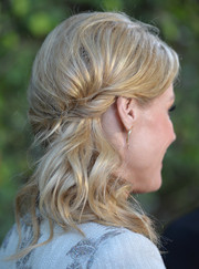 Julie Bowen attended the 'Modern Family' wedding episode screening wearing a super-charming, partially braided hairstyle.