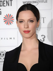 Rebecca Hall wore a sheer wash of warm berry-colored lipstick at the 2011 Moet British Independent Film Awards.