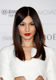 Gemma Chan wore a sleek and chic center-parted 'do to the Moet British Independent Film Awards.