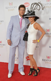 Caroline Gamba Walter chose a simple yet chic little white dress for the Kentucky Derby Moet & Chandon toast.