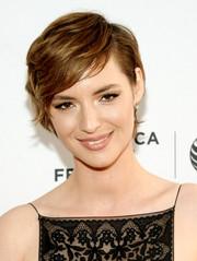 Louise Bourgoin looked adorable with her emo bangs at the Tribeca Film Festival premiere of 'Mojave.'