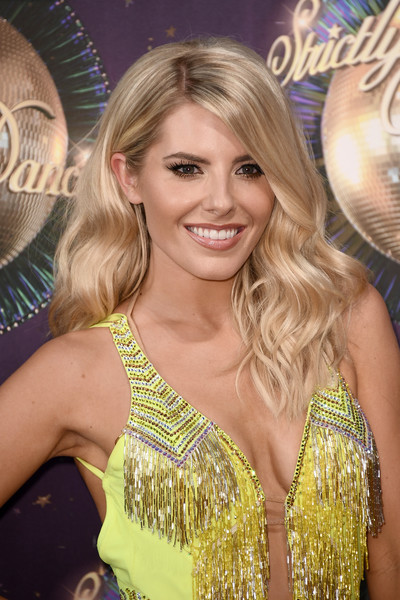 Mollie King Long Wavy Cut [strictly come dancing,hair,blond,hairstyle,shoulder,long hair,event,dress,hair coloring,eyelash,fashion accessory,mollie king,england,london,the piazza,red carpet,launch,red carpet launch]