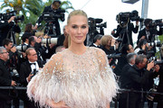 Molly Sims Feathered Clutch
