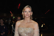 Charlene Wittstock Shines in a Sparkling Ombre Evening Gown