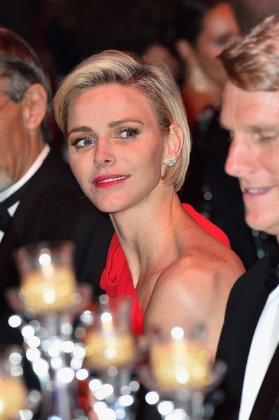 Charlene Wittstock kept it classic with this bob at the Monaco Red Cross Ball.