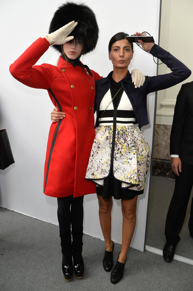 Giovanna Battaglia at Moncler Gamme Rouge