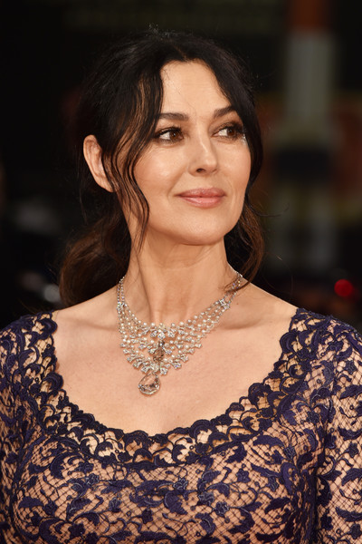 Monica Bellucci Gemstone Chandelier Necklace