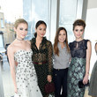 Skyler Samuels, Jamie Chung, Monique Lhuillier, and Sami Gayle at Monique Lhuillier