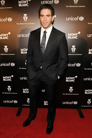 Eli Roth looked polished from head to toe in a stylish black suit.