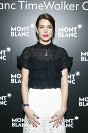 Charlotte Casiraghi matched her mani to her lipstick.