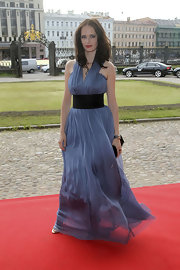 What is as elegant as the Montblanc White Nights gala dinner in St. Petersburg? Actress Eva Green's blue chiffon halter gown, of course!