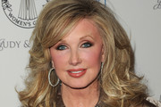 Morgan Fairchild Medium Curls with Bangs
