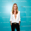 Rosie Huntington-Whiteley in Versus for the Moroccanoil Campaign Launch