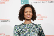 Gugu Mbatha Raw looked adorable with her curled-out bob at the Rome Film Fest photocall for 'Motherless Brooklyn.'
