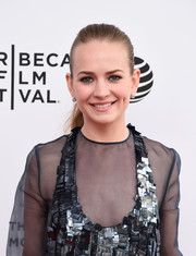 Britt Robertson slicked her hair back into a tight ponytail for the Tribeca Film Fest premiere of 'Mr. Church.'