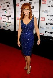 Reba McEntire looked phenom at Muhammad Ali's Fight Night in Arizona in this glittering blue dress.