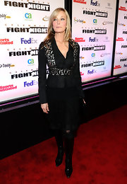Bo Derek was rocker-chic at Muhammad Ali's Celebrity Fight Night in an all-black ensemble, finished off with fierce knee-high boots.