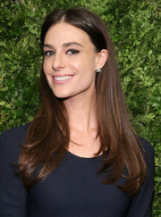 Ariana Rockefeller wore her long tresses loose with a center part and flippy ends during the Museum of Modern Art's film benefit.