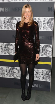 Mary Alice was all about the sparkle in this bronze ombre mini at the Modern Art Film Benefit.