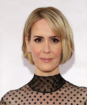 Sarah Paulson attended the Museum of the Moving Image tribute to Julianne Moore wearing a very cute bob.