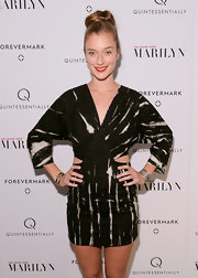 Caitlin Fitzgerald wore a print cutout dress with dolmen sleeves for the 'My Week With Marilyn' premiere.