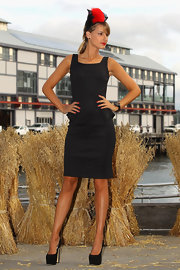 Laura Dundovic rocked a sky-high pair of black platform pumps at the Myer 2012 Autumn/Winter Racing launch.