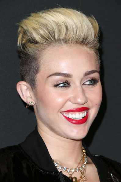 More Pics of Miley Cyrus Short Straight Cut (1 of 14) - Miley Cyrus Lookbook - StyleBistro