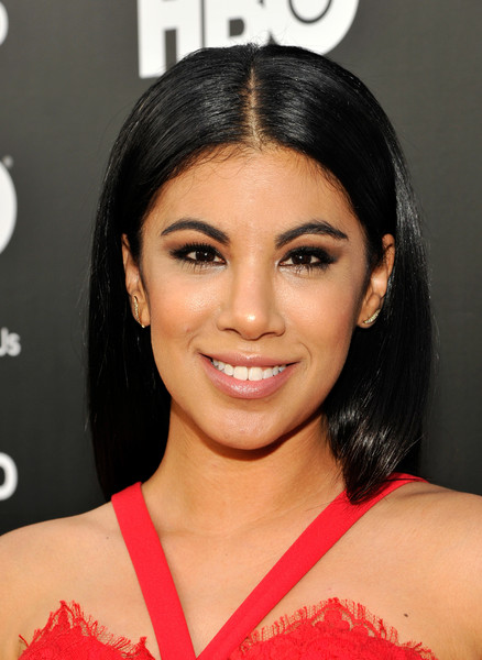 Chrissie Fit sported a glossy straight 'do with a center part at the NALIP 2016 Latino Media Awards.
