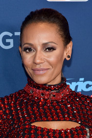 Melanie Brown topped off her look with a simple ponytail for the 'America's Got Talent' season 11 live show.