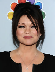 Valerie Bertinelli wore her hair in a piece-y bobby pinned updo with wispy bangs at Betty White's 90th Birthday Celebration.