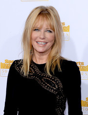 Cheryl Tiegs topped off her look with a messy-chic 'do cut when she attended the Sports Illustrated Swimsuit Issue 50th anniversary bash.
