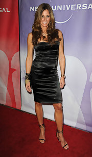 Kelly Bensimon looked sultry in delicate strappy stilettos.