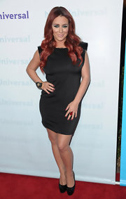 Aubrey O'Day wore a sharp-shouldered LBD for the TCA Press Tour All-Star Party.