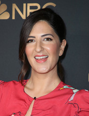 D'Arcy Carden sported a loose, low ponytail at the NBC and Universal Emmy nominee celebration.