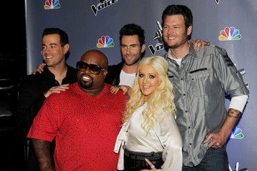"Christina Aguilera Cee-Lo Green NBC's ""The Voice"" Press Junket"